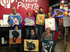 We spent a lovely afternoon with AdminiTrust celebrating the season and capturing our pet's images on canvas. Paint Your Pet, Paint And Sip, Team Building Events, Painting Studio, Animals Images, Event Venues, Night Out, Palette, Seasons