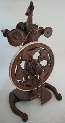 golding spinning wheel.  Worth more than my car. But with HOUNDS!