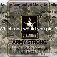 Here are your choices which would you pick????????? Job, house, money for school, want to jump out of planes. Pssssssss!!!! Guess what you can get them all with the U.S. Army. Contact me now SSG Ledet!!!!!! Staff Sergeant Ledet #ssgledet #usarmy #usarmyreserve #usarmystrong  ♫ Faith