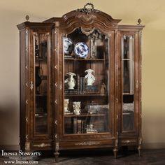Antique Furniture   Antique Bedroom Furniture   Bedroom Sets   Antique French Louis XVI Mahogany Armoire   www.inessa.com
