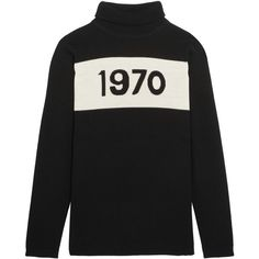 Bella Freud 1970 wool turtleneck sweater (€340) ❤ liked on Polyvore featuring tops, sweaters, clothing - ls tops, jumper, black, turtleneck sweater, wool tops, punk tops, wool turtleneck and polo neck jumper