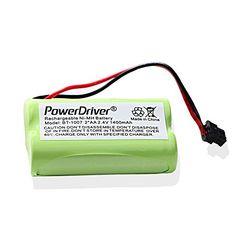 Introducing PowerDriver 24V NiMH Cordless home Phone Rechargeable Battery for Uniden BT1007 BT1007 BT904 BT904 BT1015 BBTY0460001 BBTY0510001 Panasonic HHRP506 HHRP506A Uniden DECT1480 DECT1560 DECT1580 Cordless Phones. Great product and follow us for more updates!