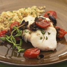 Weight Loss Recipes - Roasted Cod with Warm Tomato-Olive-Caper Tapenade - http://bestrecipesmagazine.com/weight-loss-recipes-roasted-cod-with-warm-tomato-olive-caper-tapenade/