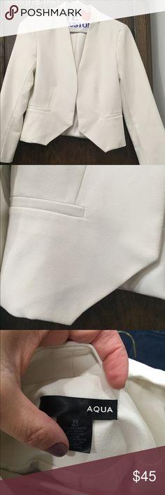 Aqua cropped jacket in ivory Cropped aqua jacket Aqua Jackets & Coats Blazers
