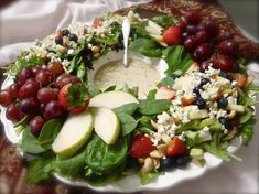 This beautiful salad was made by Janelle from the blog Comfy in the kitchen. Not only is her salad lovely, but the message on her blog touched my heart. Please visit her to get the complete instruc...