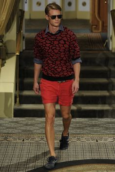 The jumper is amazing. I also like how it pairs with the short. Michael Bastian Men's RTW Spring 2014