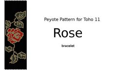 Peyote Pattern for TOHO 11 : Rose- INSTANT DOWNLOAD pdf by Beadamor on Etsy