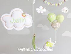 Elephant Baby Mobile Nursery Decor Balloon by sunshineandvodka