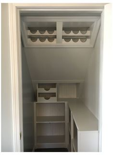 Under Stairs Cupboard Storage, Stairway Storage, Basement Storage, Basement Stairs, Basement Remodeling, Understairs Storage Ideas, Storage Stairs, Understairs Closet, Basement Ceilings