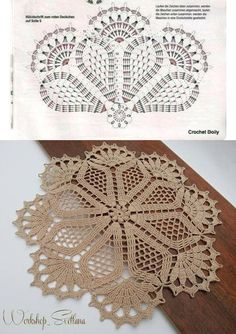 Схема+круглой+салфетки+|+вязание+|+Постила