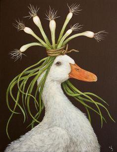 Malerei Zeichnungen Vogel Cocktailservietten Getrankeservietten Ente Kunst Skurrile Kunst