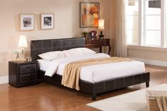 Espresso Leather Look Queen Size Upholstered Platform Bed Kings Brand Furniture http://www.amazon.com/dp/B00GMT1200/ref=cm_sw_r_pi_dp_9tnUtb0Z0ATSYDDW