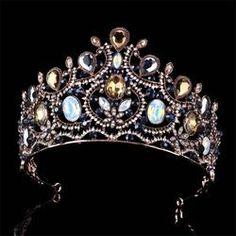 Big European Bride Wedding Crown Austrian Crystal