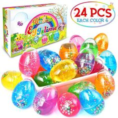 HUFUN 24 Pack Slime Kit Silly Putty Clear Unicorn Slime Supplies Kits Slime kit for Girls Kids Boys Birthday Gift Slime Charms Games Stuff add ins Party Favors Easter Basket Stuffers Egg Stress Ball Birthday Gift Photo, Birthday Gifts For Girls, Girl Birthday, American Girl Doll Sets, Minnie Mouse Toys, Easter Toys, Silly Putty, Baby Doll Accessories, Christmas Stocking Stuffers