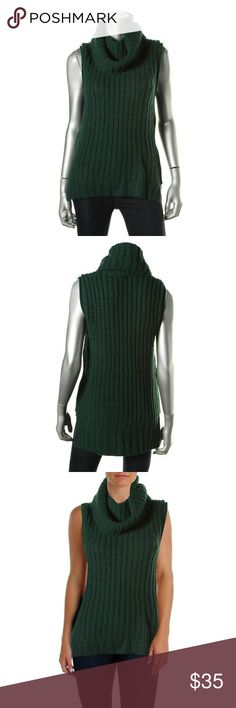 The Lane Wool Blend Sleeveless Tunic Sweater Top New without tags condition. Manufacturer color: Jungle. Sleeveless tunic sweater top. Bust across: 16 inches. Neckline: Cowl. Material: Wool/Viscose/Polyamide/Cashmere. Fabric type: Wool. Specialty: Ribbed. The Lane Tops Tunics