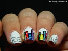 Book nail art - need to try this!