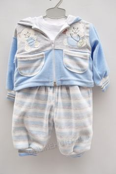 Komplet niemowlęcy ocieplany 314  _C1 (68-80)