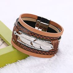 New Alloy Feather Leaves Wide Magnetic Leather Bracelets & Bangles Wristband Multilayer Bracelets Jewelry for Women Men Gift,   Engagement Rings,  US $3.68,   http://diamond.fashiongarments.biz/products/new-alloy-feather-leaves-wide-magnetic-leather-bracelets-bangles-wristband-multilayer-bracelets-jewelry-for-women-men-gift/,  US $3.68, US $2.94  #Engagementring  http://diamond.fashiongarments.biz/  #weddingband #weddingjewelry #weddingring #diamondengagementring #925SterlingSilver…
