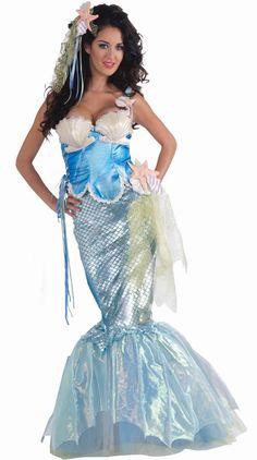 Roma Mermaid Sea Creature Strapless Dress Deluxe Costume 4577