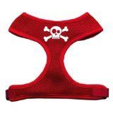Mirage Pet Products Skull Crossbones Screen Print Soft Mesh Dog Harnesses Small Red ** Be sure to check out this awesome product.Note:It is affiliate link to Amazon. #DogsHarness