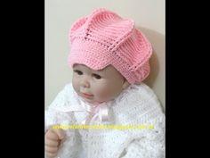 CROCHE - BOINA RELEVO BABY - YouTube