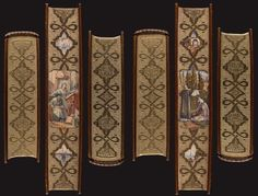 fore-edge paintings with gilded and gauffered edges by Fazakerley, showing scenes from the book
