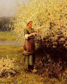 Louis Aston Knight (1873-1948) Spring Blossoms