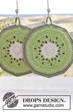 Crochet Taste of Summer Kiwi Cotton Potholders (Set of 2), Custom Order, Handmade by Silkwithasizzle on Etsy