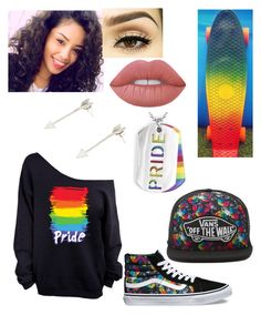 """""""Pride"""" by domobarajas ❤ liked on Polyvore featuring Vans, Lime Crime and West Coast Jewelry"""