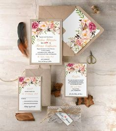 Floral invitations (credit unknown)