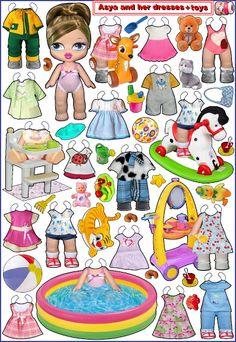 Bratz Babyz Photo Paper Dolls~~~ANYA