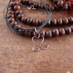 Yogin Yogini #necklace #Infinity  #Yoga #yogajewelry #yogagift by wirefoxjewellery on Etsy