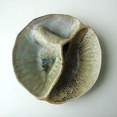 Wood fired ceramics. Celadon. Engobe.