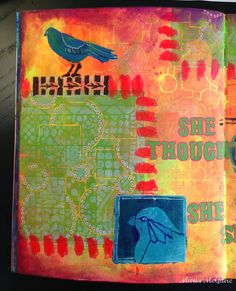 StencilGirl Talk: Art Journal Page with StencilGirl Stencils GALORE!
