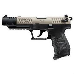 Walther P22 Target Semi Auto Handgun .22 Long Rifle 10 Rounds Polymer Frame Silver Slide Muzzle Brake 5120337 - 723364200366
