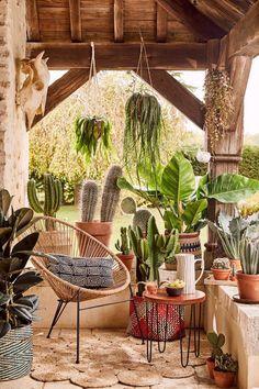 Boho Glam Home, Outdoor Rooms, Outdoor Gardens, Outdoor Decor, Outdoor Living, Patio Bohemio, Mexican Hacienda, Hacienda Decor, Bohemian Patio
