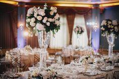 Glamorous white reception decor | Photo by Gabe McClintock via http://junebugweddings.com/wedding-blog/glamorous-wedding-fairmont-banff-springs-hotel/