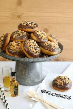 Peanut Butter Bourbon-Filled Doughnuts