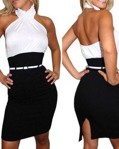 Ruffle Tight Back Jag Dress #dress
