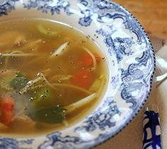 Turkey or Chicken noodle soup, so you can feed your cold.