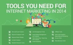 Tools You Need For Internet Marketing In 2014 #infographic.