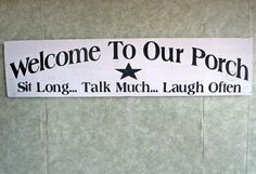 Handmade Welcome Signs for Outside | Porch sign outdoor summertime welcome