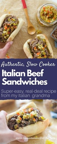 This incredibly delicious Authentic Italian Beef Recipe is super easy to make in the multi cooker! This incredibly delicious Authentic Italian Beef Recipe is super easy to make in the multi cooker! Italian Beef Recipes, Slow Cooker Italian Beef, Italian Foods, Beef Dishes, Food Dishes, Main Dishes, Easy Dinner Recipes, Easy Meals, Dessert For Dinner