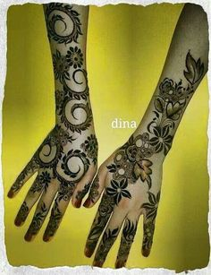 Beautiful Arabic #henna