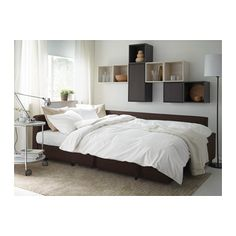 FRIHETEN Sofa bed with chaise - Skiftebo brown, - - IKEA