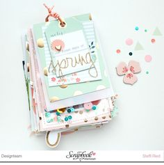 "Minialbum ""Our First Days Of Spring"" mit der MME Kollektion ""On Trend"" - Scrap Sweet Scrap - derzeit im Umbau"
