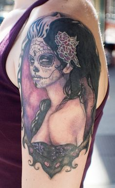 I love this sugar skull tattoo
