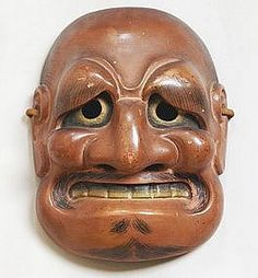 Fine Edo period Buaku Kyogen Mask, Noh Theater