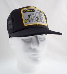 bba4639ce Vintage 80s 90s Stanley Tools Patch Mesh Trucker Snapback Hat Cap Ya-Hopi  USA #