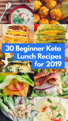 30 Beginner Keto Lunch Recipes for 2019 Starting the new year off on a healthy lifestyle, but don't know how to be practical about it? If you're new to the keto diet, these are some great lunch (or dinner) recipes to have in Ketogenic Diet Meal Plan, Ketogenic Diet For Beginners, Diet Plan Menu, Keto Meal Plan, Diet Meal Plans, Meal Prep, Ketosis Diet, Diet Dinner Recipes, Keto Lunch Ideas